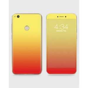Huawei Honor 8 Lite Skin Wrap Mix Color Red & Yellow-1wall12-18