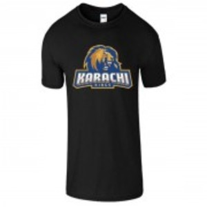 Black Cotton Karachi King Printed T-Shirt-00397