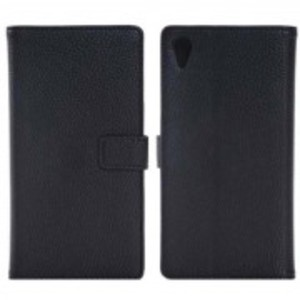 Vintage Leather Wallet Book Style Case for Sony Xperia Z3-Black
