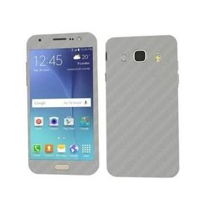 Samsung Galaxy J5 2016 Silver Carbon Fiber Texture Skin-DT2217