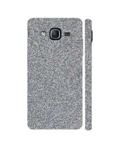 Decor Today Samsung Galaxy On5 2015 Silver Glitter Mobile Skin-Back & Sides