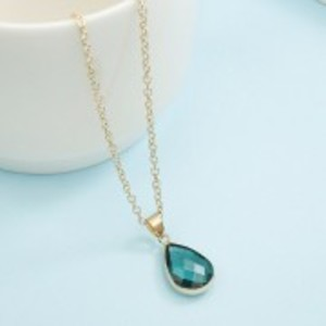 Ladies Fashion Necklace - Green - AN125