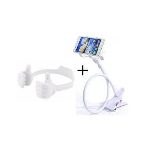 Pack of 2-Flexible Mobile Holder & Mobile Holder-White