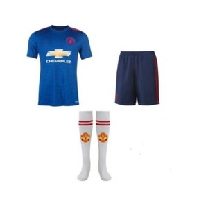 Blue Polyester Manchester United Football Kit-XL