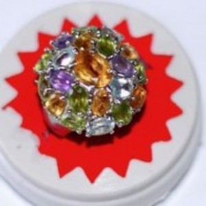 Amethyst and Topaz Ring Multicolor GB386