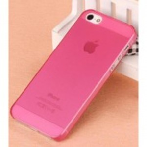 Ultra Thin Clear Gloss Tpu Case For Apple Iphone 5, 5S-Pink