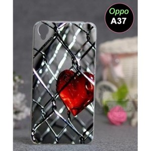 Oppo A37 Mobile Cover Heart Style-Multicolor