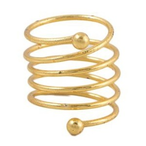 Gold Plated Challa Ring-Golden