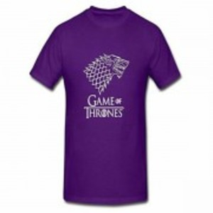 Purple Game Of Thrones Printed T-Shirt