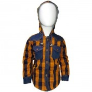 Hoodie Shirt Orange for Baby Boy's