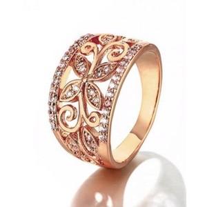 Copper Flower Cubic Zirconia Rings