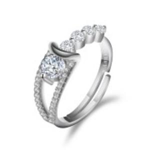 Stimulated Diamond Silver Rings
