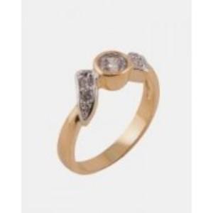 Golden/Silver Multicolour Gold + Rhodium Ring