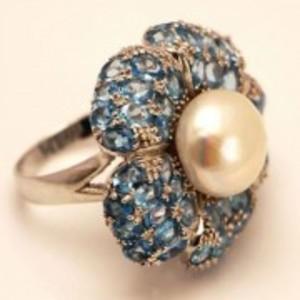 Blue Topaz Ring-GB1334-Lite Blue
