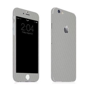 Iphone 6 Silver Carbon Fiber Texture Skin