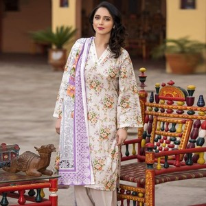 multicolour 3pc Suit Unstitched Universal Designer Lawn-UD Lawn-249