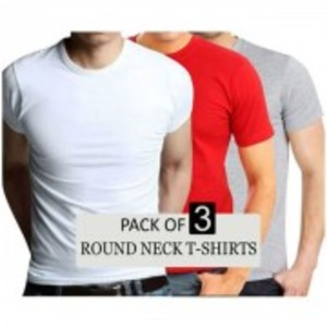 Pack Of 3 - Round Neck T-Shirts
