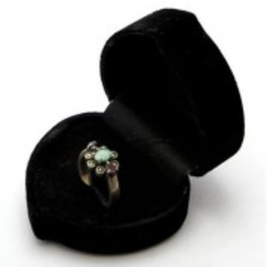 Emerald Sapphire and Ruby Stone Silver Ring GB(5)4400