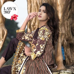 Brown Universal Lawn 2017 Collection Suit - 201-A