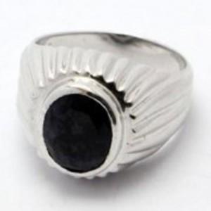 Sapphire Stone Silver Ring GB(5)4490