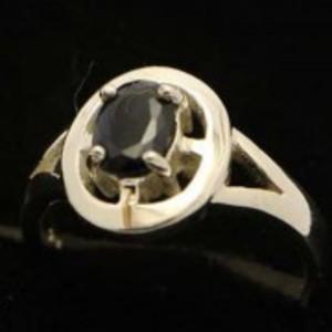 Sapphire Stone Silver Ring GB(5)4910