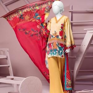 3 Pcs Unstitched Margaret Soul Lawn Vol. 1 Collection Suit-JLAWN-S-18-028/A