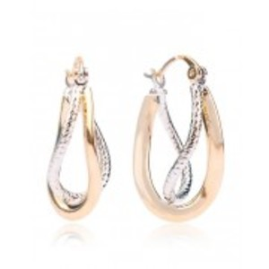 Gold & Rhodium Plated Stylish Earrings
