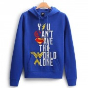 Regal Outfit Blue Printed Fleece Hoodie for Boy