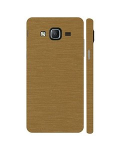 Decor Today Samsung On5 2015 Golden Metal Texture Mobile Skin-Back & Sides