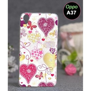 Oppo A37 Mobile Cover Love Style-Pink
