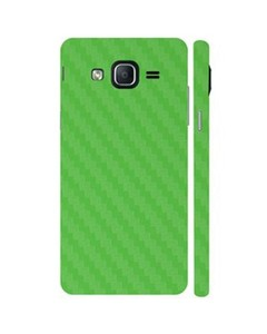 Decor Today Samsung On5 2015 Green Carbon Fiber Texture Mobile Skin-Back & Sides