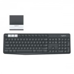 K375s -  Multi-Device Wireless Keyboard and Phone Stand Combo - Grey