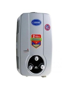 Canon Silver & White 16D-Instant Gas Water Geyser