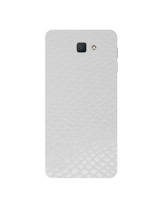 Decor Today Samsung On5 2016 White Leather Texture Mobile Skin-Back & Sides