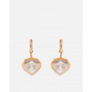 Golden/Silver Multicolour Gold + Rhodium Earrings