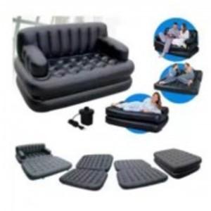 5 In 1 Sofa Bed - Black