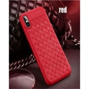 OPPO A37 Weave Leather Look Back Cover - Red
