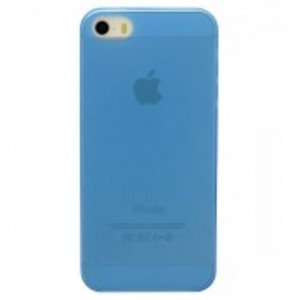 Ultra Thin Transparent Tpu Case For Apple Iphone 5, 5S-Blue