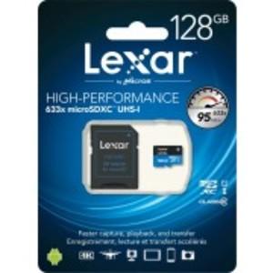 Lexar High-Performance microSDHC 633x 128GB UHS-I/U1 w/USB 3.0