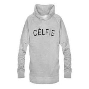 Celfie Grey Printed Hoodie For Boys