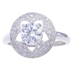 Silver Micro Pave Cubic Zirconia Metal Ring-UA786167PK