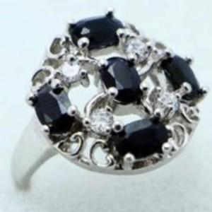 Sapphire Stone Ring -Multicolor-GB1896