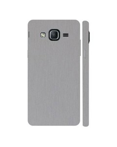 Decor Today Samsung On5 2015 Silver Metal Texture Mobile Skin-Back & Sides