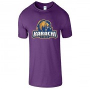Purple Cotton Karachi King Printed T-Shirt-00421
