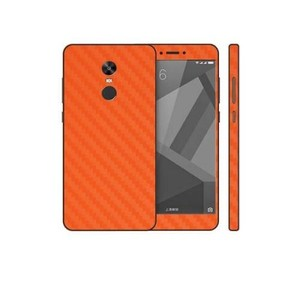 Xiaomi Redmi Note 4X Orange Carbon Fiber Texture Skin