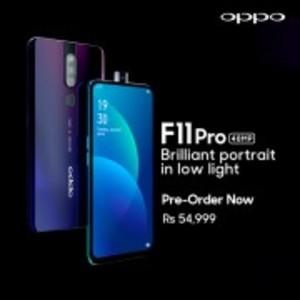 """OPPO F11 PRO - 6.5"""" FHD Display - 6GB RAM - 128GB ROM - Fingerprint Sensor (Thunder Black)"""
