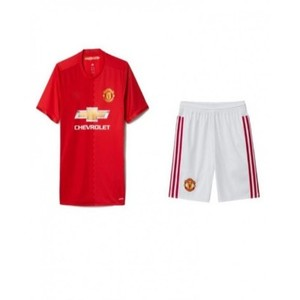 Red Polyester Manchester United Football Kit-XL