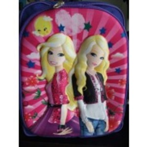 3D-Cartoon Character School Anna & Elsa Bag - small size