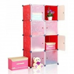 DIY 8 Cubes Storage Cabinet – Red