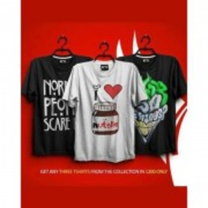 Pack Of 3 Printed T-Shirt-TS115